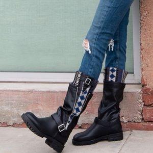 Nala Moon | Lug Sole Moto Style Boots
